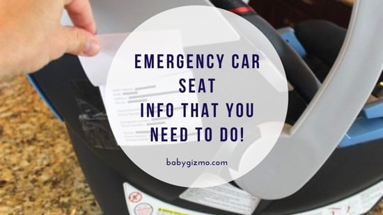 Car Seat Emergency Contact Information – DO THIS!