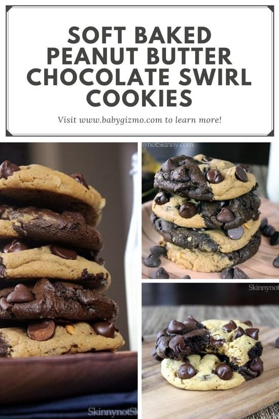 Peanut Buttter Chocolate Swirl Cookies
