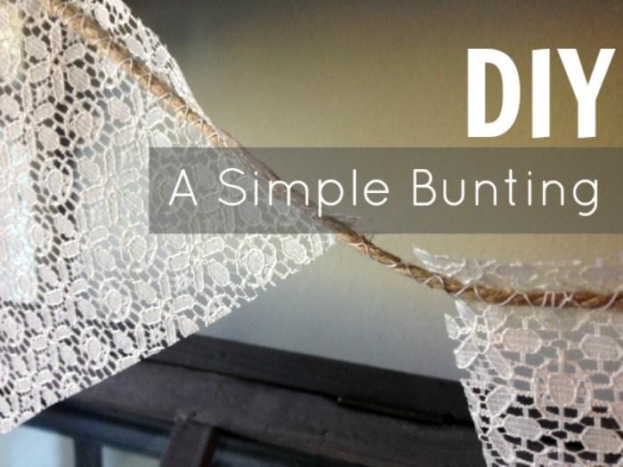 A Simple Bunting DIY