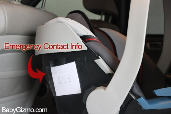 car seat emergency contact information do this baby. Black Bedroom Furniture Sets. Home Design Ideas