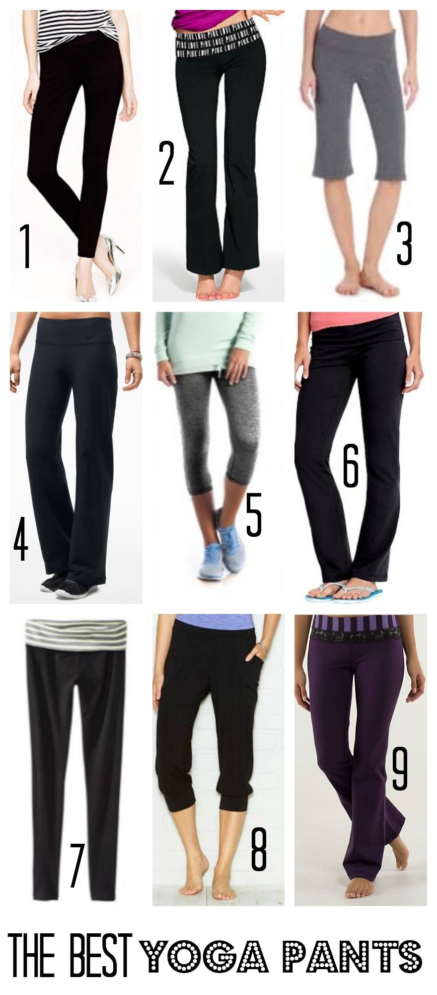 yoga pants collage