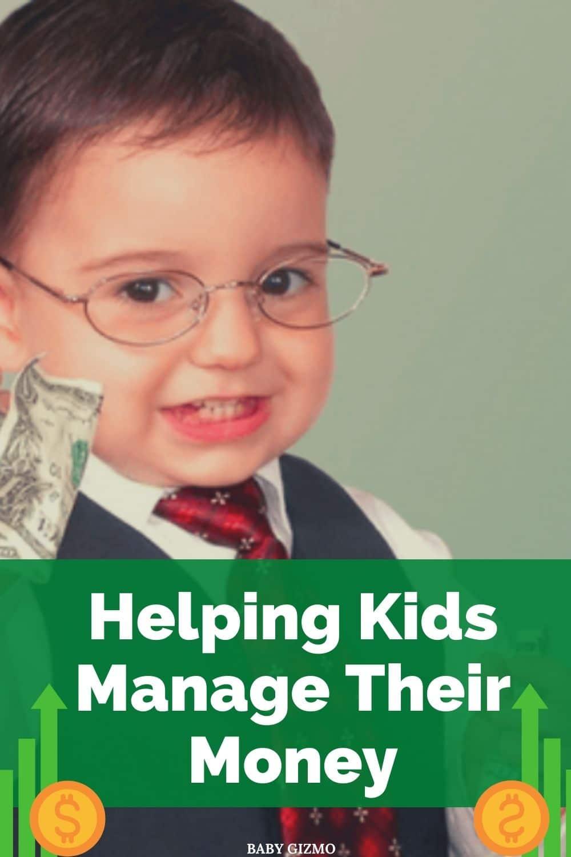 toddler in glasses holding money