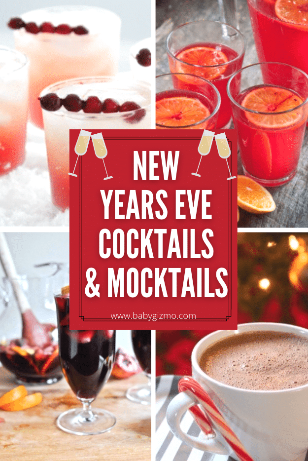 New Year's Cocktails And Mocktails