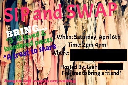 Refresh Your Wardrobe With a Sip & Swap