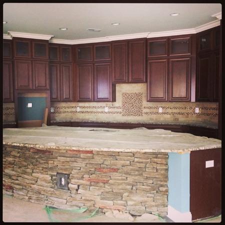 Kitchen stone island