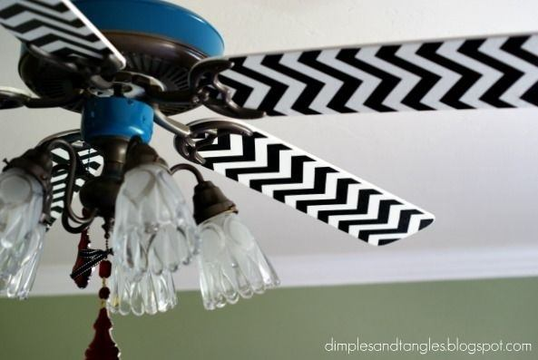 ceiling fan with stripes