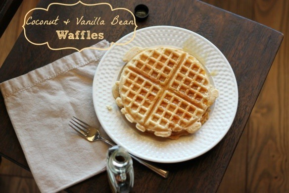 coconut and vanilla waffles