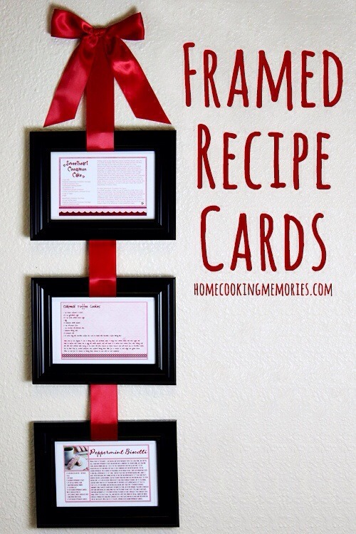 recipe cards Valentines Day gifts