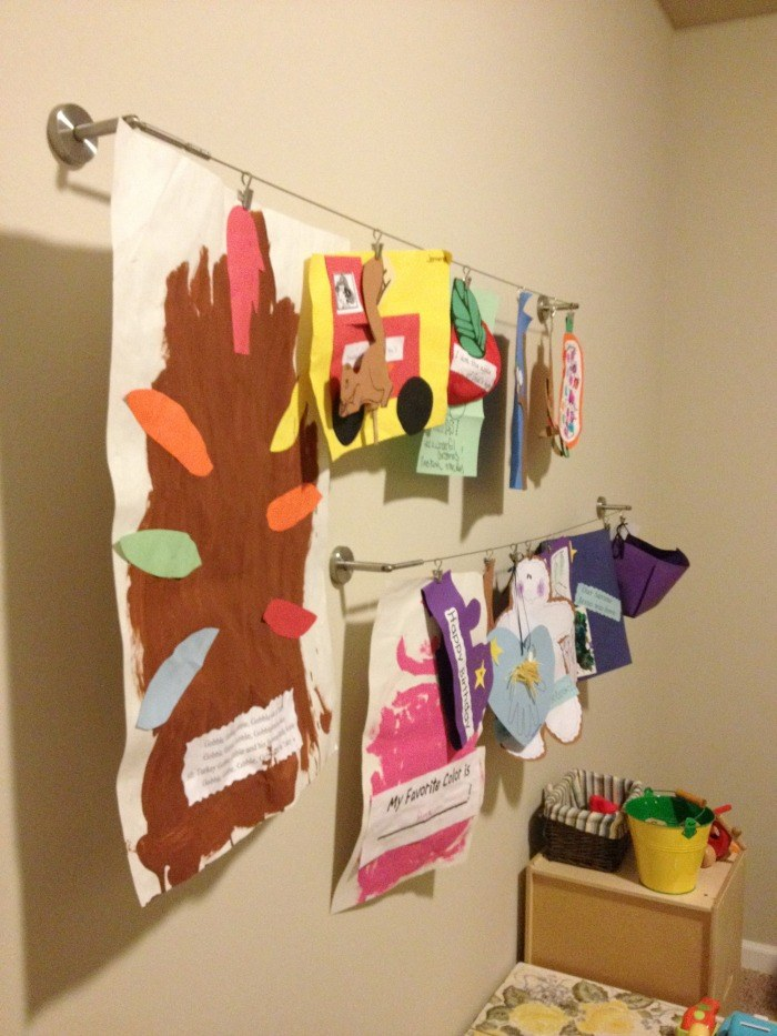 Our Playroom Art Wall