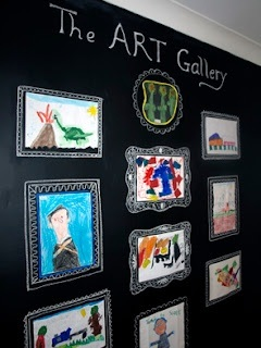 art gallery in a playroom