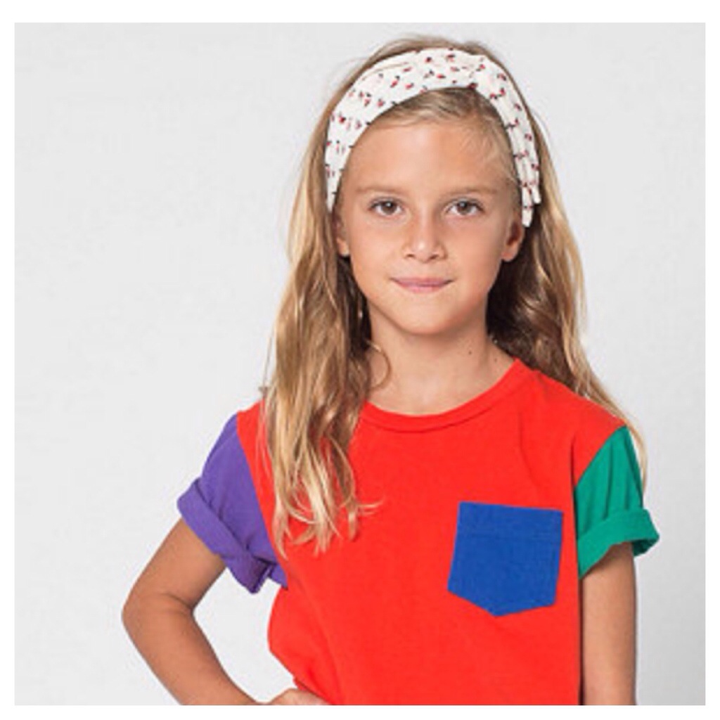 american apparel color blok tee