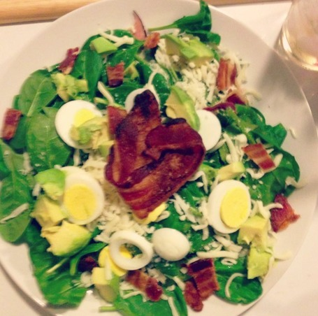 bacon heart salad