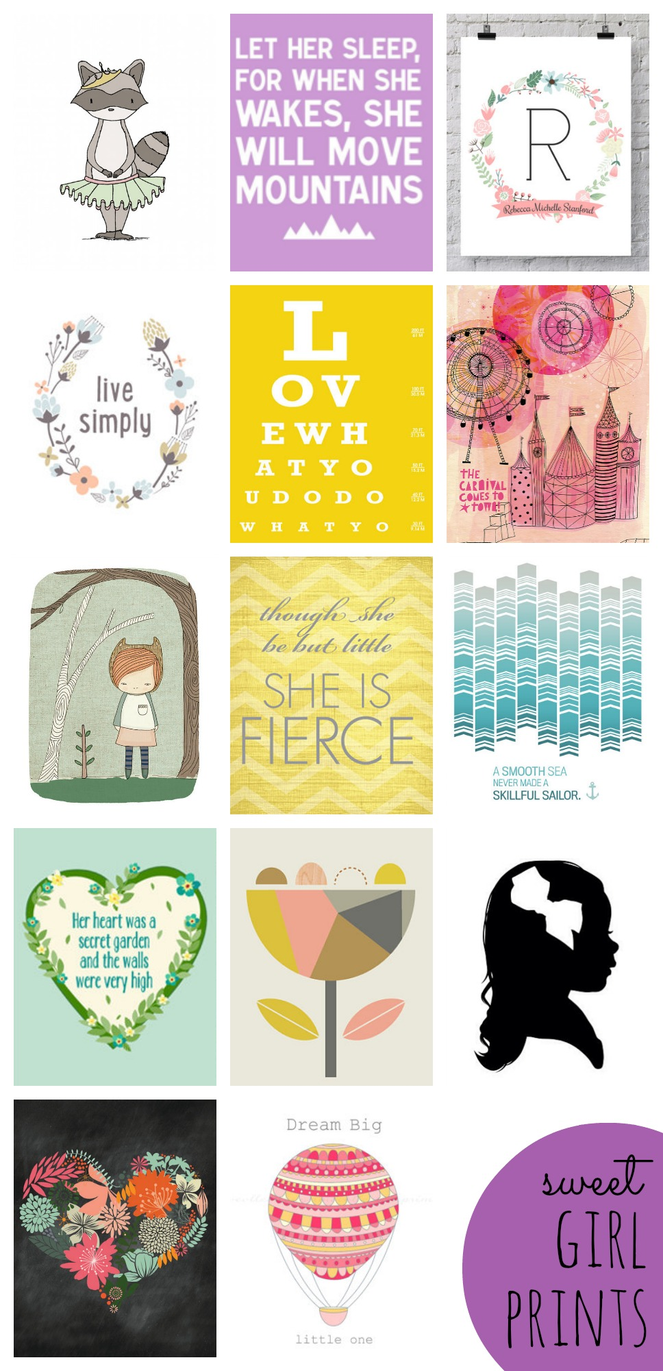 sweet girl prints