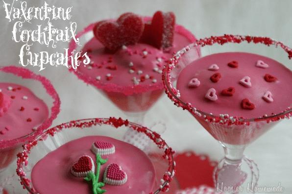 valentine cocktail cupcakes