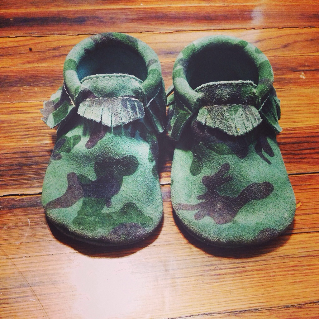 camo moccasins for babies