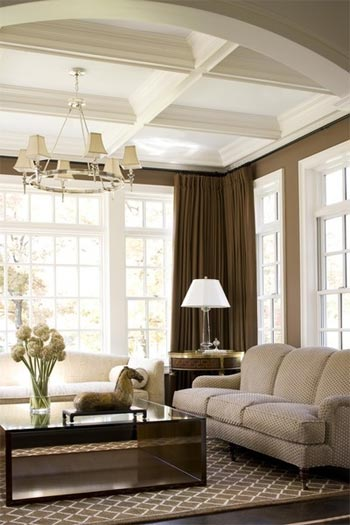 cofferedceilings Building a House with Pinterest – Family Room Edition