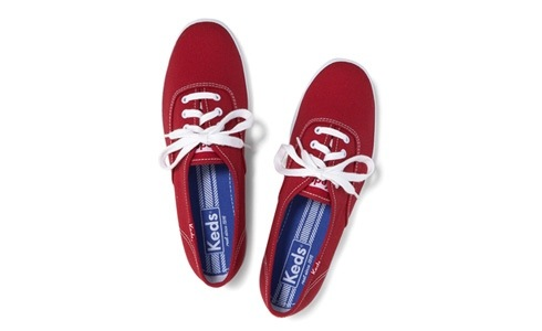 Keds red tennis shoes