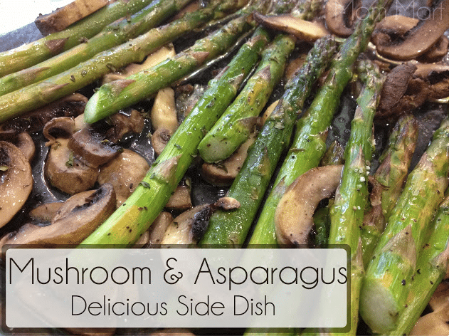 mushroom and asparagus