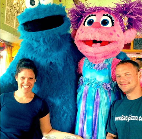 sesame street with couple