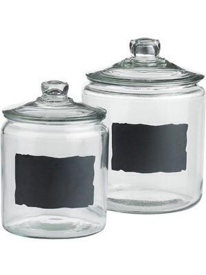pier 1 chalkboard jars