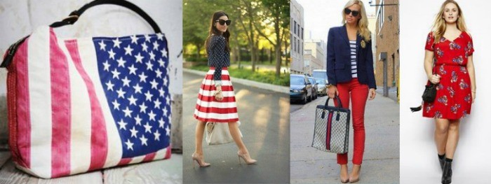 red white and blue clothing