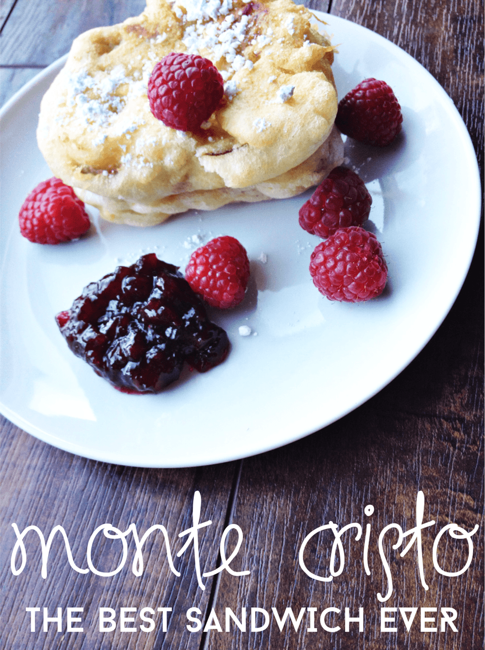 Monte Cristo Sandwiches With Rhubarb + Blueberry Jam