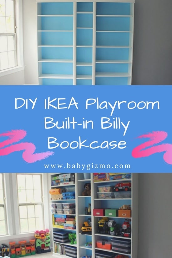 DIY Ikea Playroom Built-in Billy Bookcase | DAD HACK