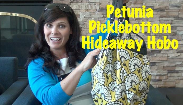 Petunia Picklebottom Hideaway Hobo Diaper Bag (VIDEO)