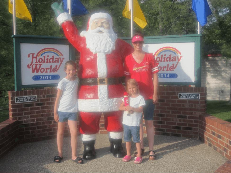 family at holiday world