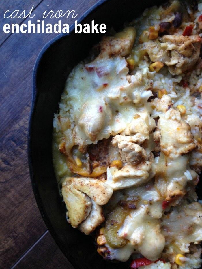 cast iron enchilada bake