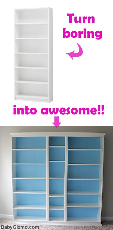 DIY Ikea Playroom Builtin Billy Bookcase Baby Gizmo - Diy billy bookcase