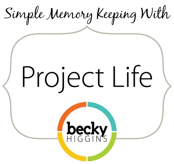 simple memory keeping with project life