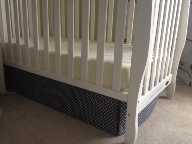 DIY No Sew Crib Skirt