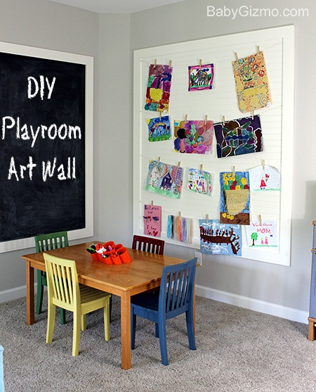 diy playroom art wall baby gizmo. Black Bedroom Furniture Sets. Home Design Ideas