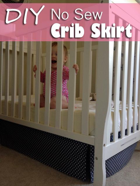 Diy No Sew Crib Skirt A Fail And A Fix Baby Gizmo