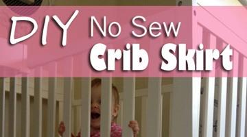 DIY No Sew Crib Skirt (a FAIL and a FIX!)