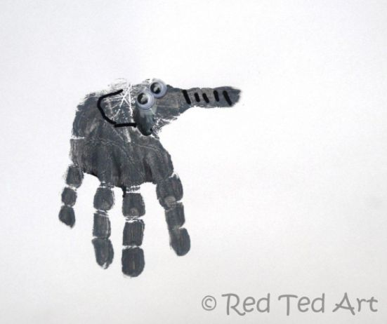 hand print projects elephant