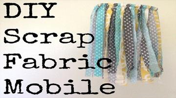 DIY Scrap Fabric Mobile