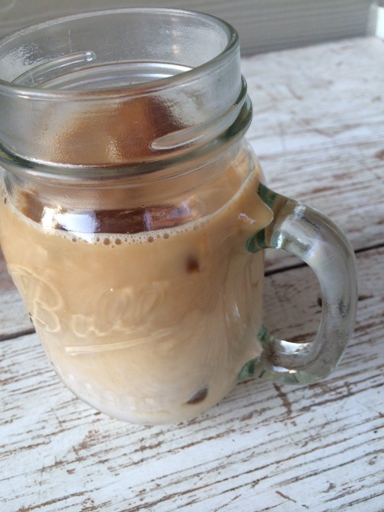 iced coffee in a mug