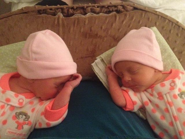 twin baby girls