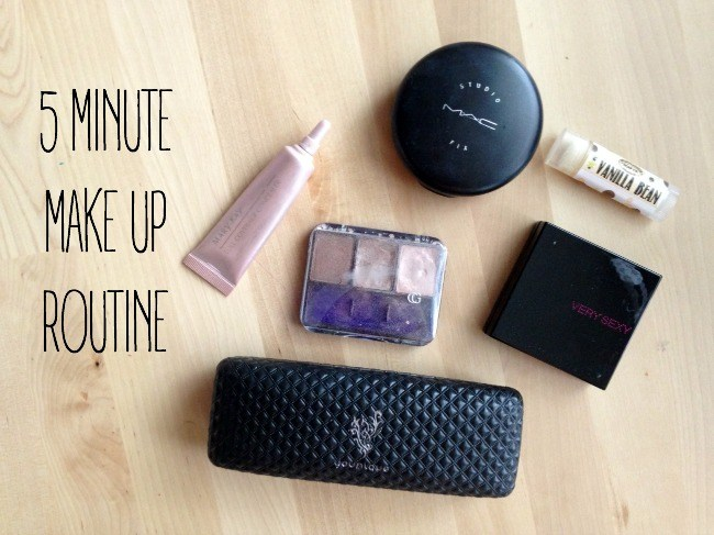 5 minute make up routine