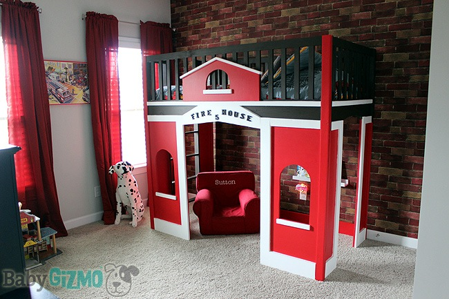 We built the bed and painted it in the garage but assembled it in his ...