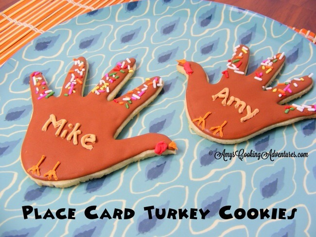 Thanksgiving place cards cookies