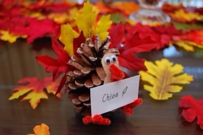 pinecone fall decor