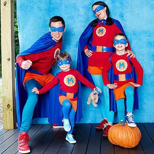 super heroes costume for family