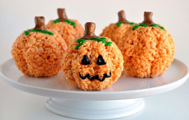 pumpkin krispie treats