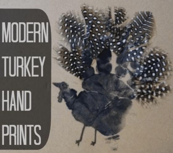 Modern Turkey Hand Prints
