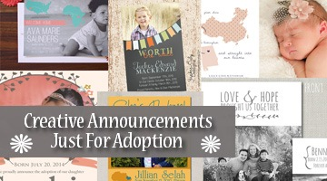 Creative Announcements | Just For Adoption