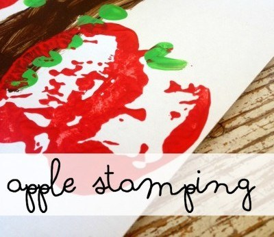 Apple Stamping Art Project