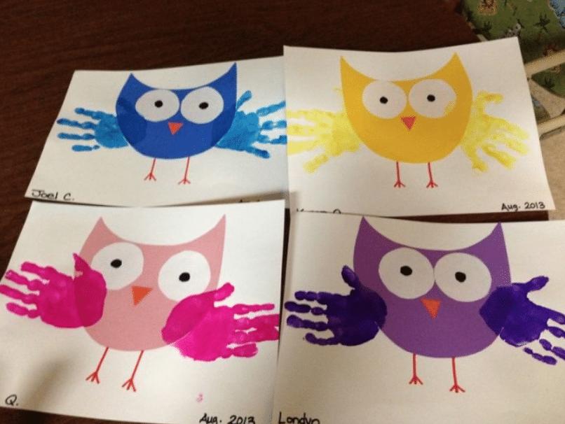 owl handprint project